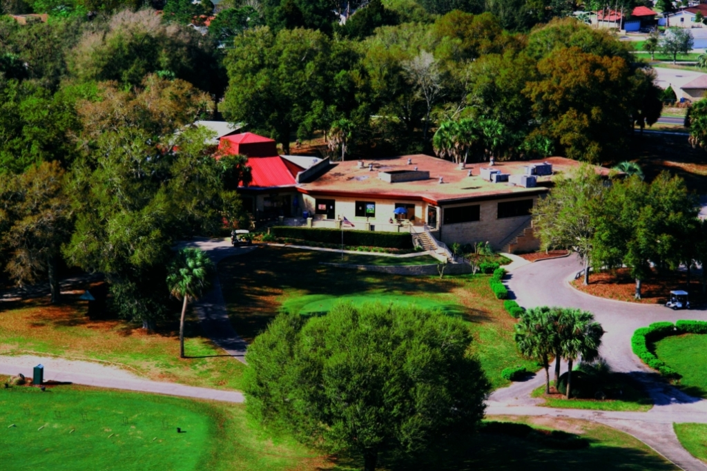Aerial view of The Country Club at Silver Springs Shores