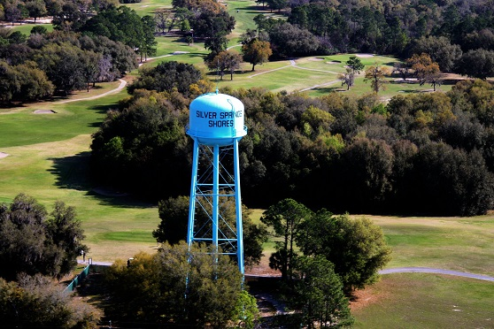 View of the Silver Springs Shores water tower